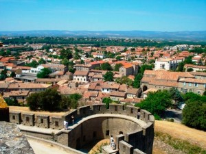 A breathtaking view of the south of France from a high vantage point